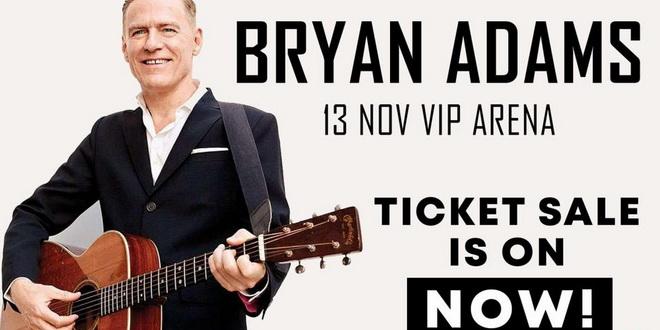 Во продажба се билетите за концертот на Брајан Адамс во Скопје