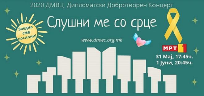 Хуманитарен концерт на МРТ 1 за меѓународниот ден на детето